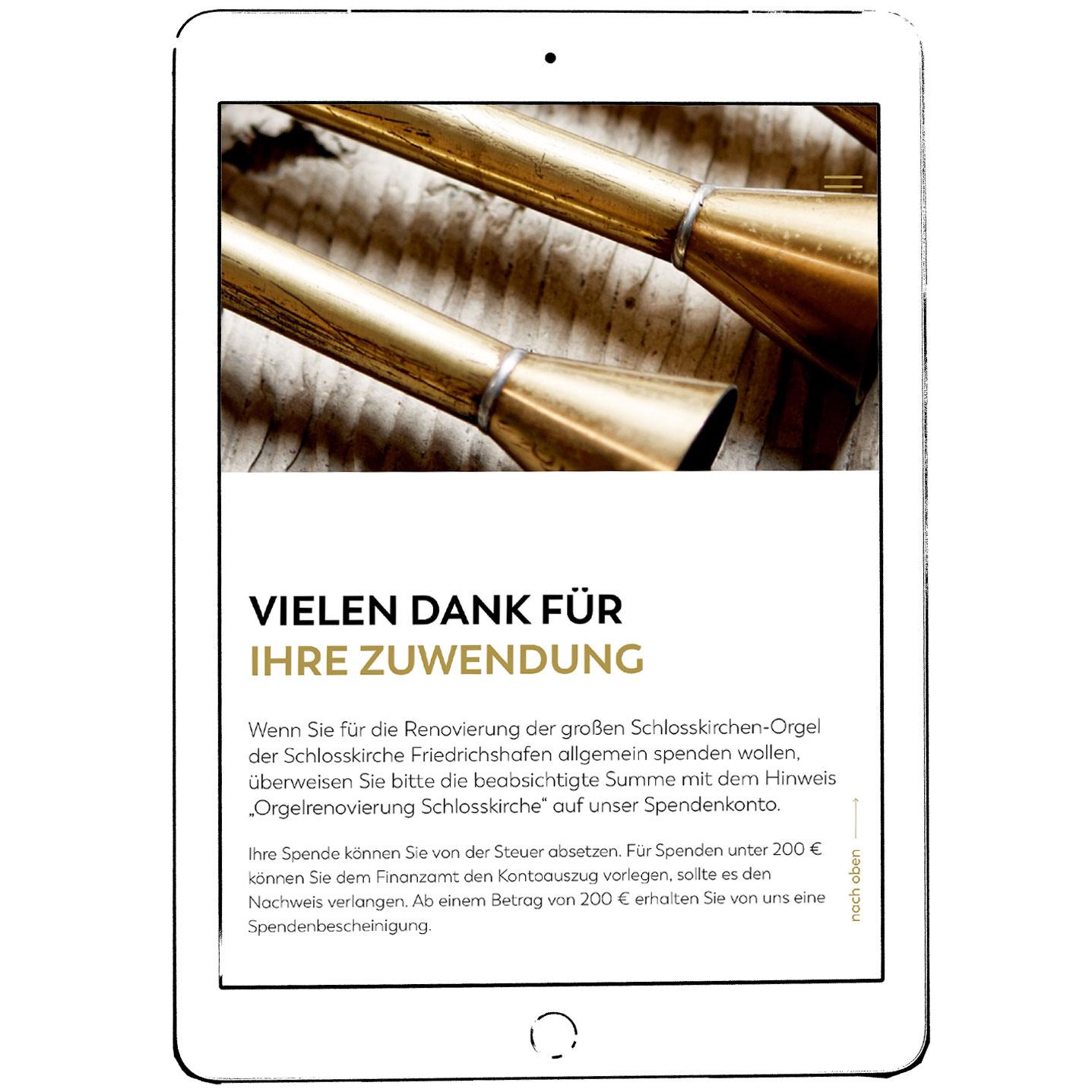 Dokumentation – Renovierung der Schlosskirchen Orgel Friedrichshafen, Oktober 2018