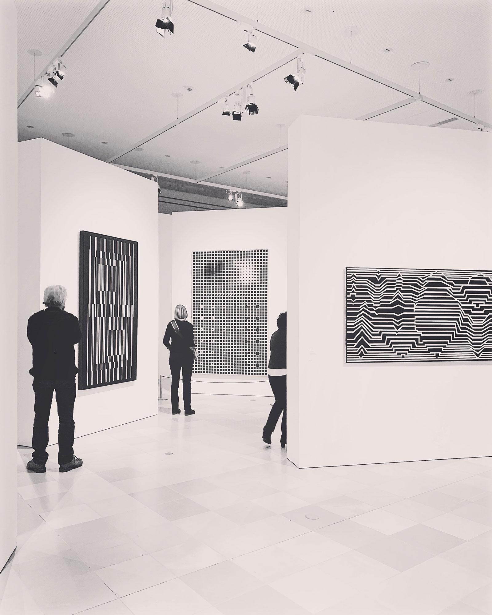 Victor Vasarely, Städl Museum, Frankfurt, January 2019