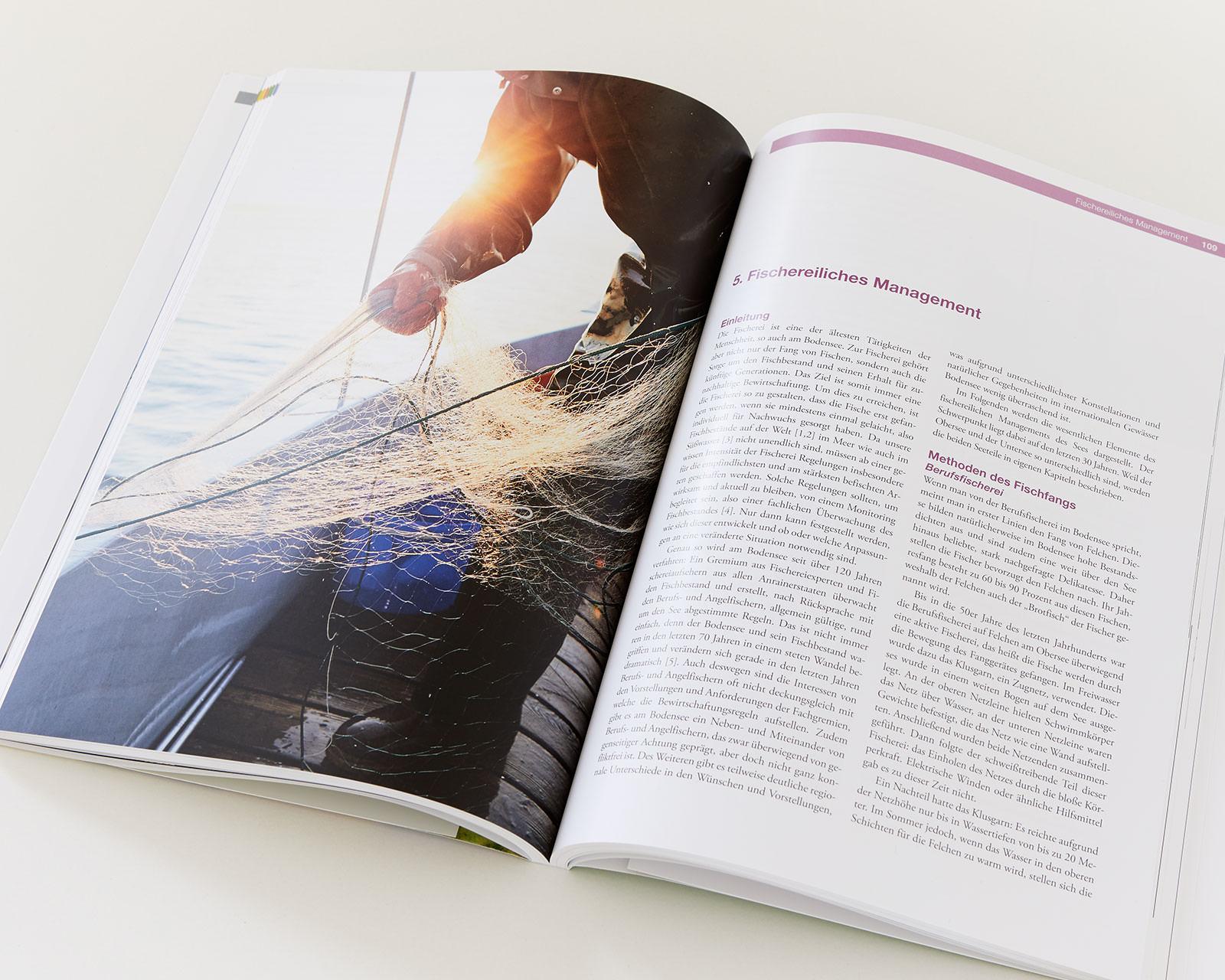 """Bild Veröffentlichung im Magazin """"Von Fischen, Fischern und Forschern"""" Ein Streifzug durch die Bodenseefischerei."""