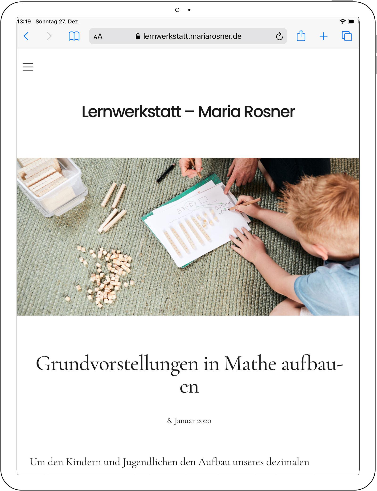 Foto-Shooting für die neue Webpräsenz von Lernwerkstatt – Maria Rosner, Blitzenreute, nähe Ravensburg, 2020
